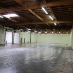 View of the warehouse from the future Dojo side